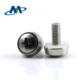 M5 Nickel Plated Oval Head Plastic Spring Washer Combination Crown Screw