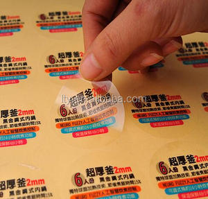 Waterproof Clear PVC Vinyl kiss cut sticker paper sheet