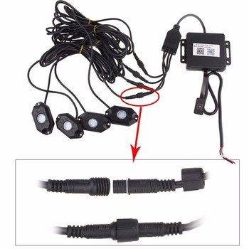 Led Rock Light With Multiple Color Under Light Flashing Music Mode For Underglow Off Road Trucks Light Buy Led Rock Lights Under Light Underglow Off