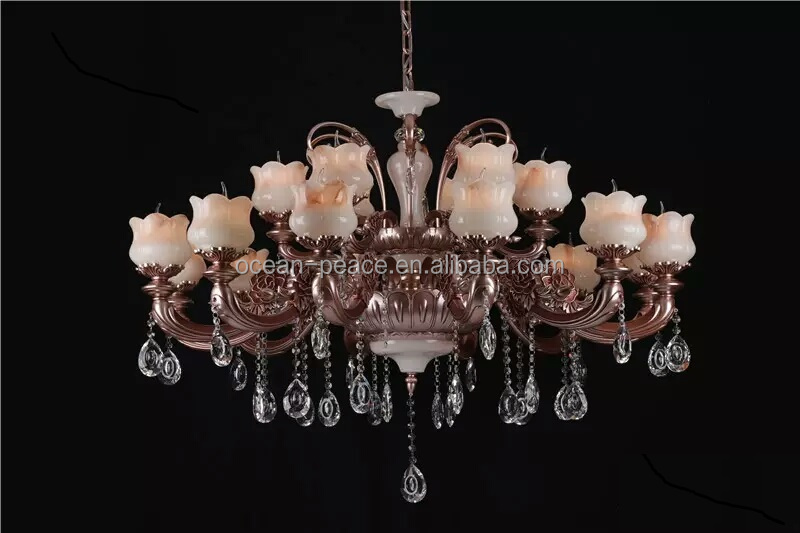 Zhongshan factory E14 candle led pendant light modern crystal chandelier