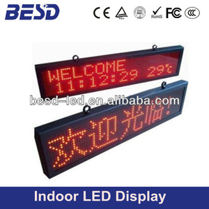 Two lines message indoor programmable text, message GPRS dot matrix led sign display
