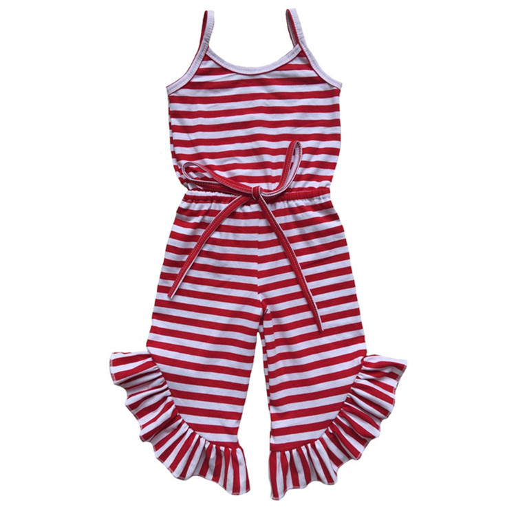 wholesale sleeveless 100% cotton stripe one piece baby romper suit  customised