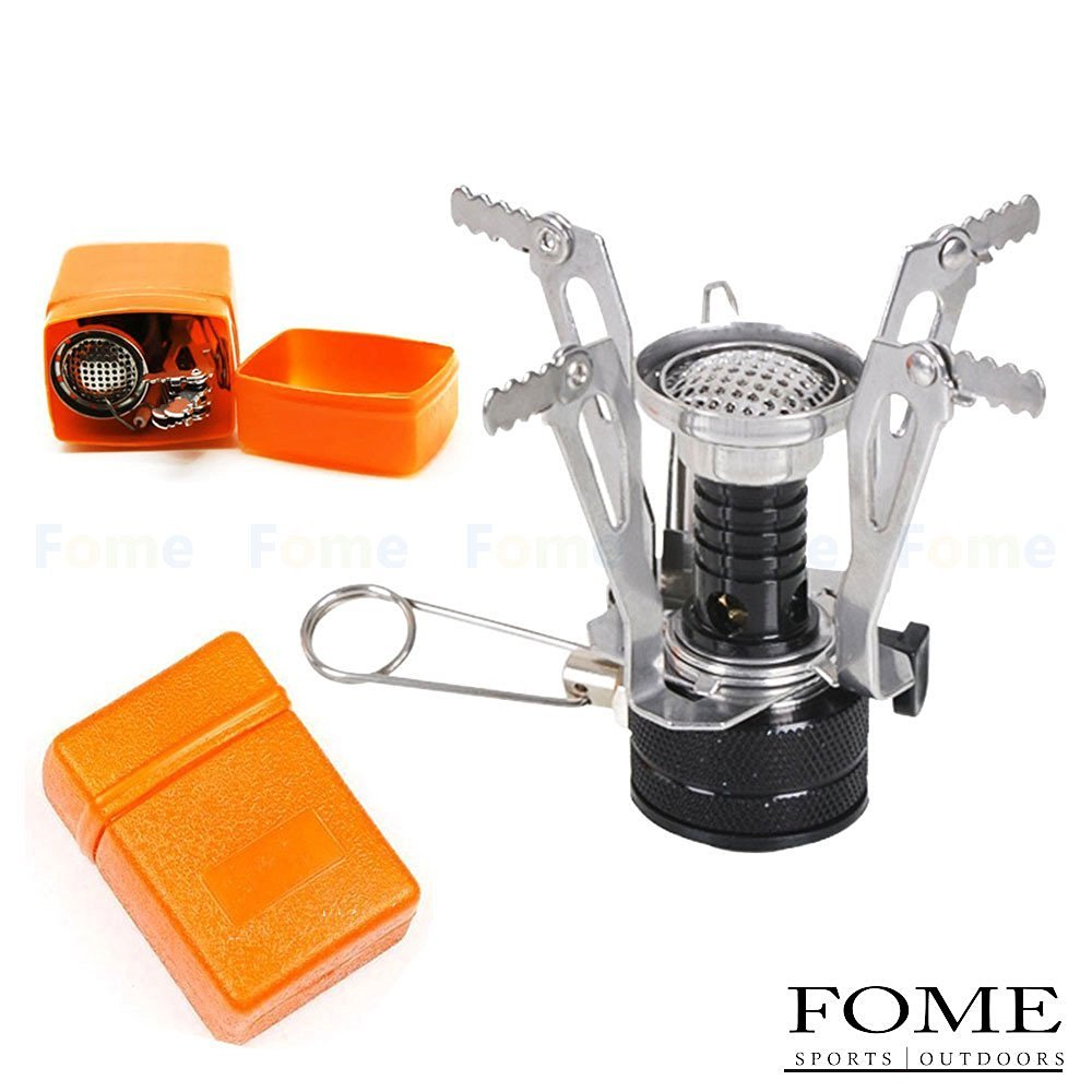 FOME Camping Gas Stove, SPORTS|OUTDOORS Ultralight Portable Backpacking Camp Gas-powered Stove Foldable Burner with Piezo Ignition One Year Warranty
