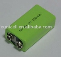 6F22 Rechargable Lithium Battery 9V 210mah nimh battery