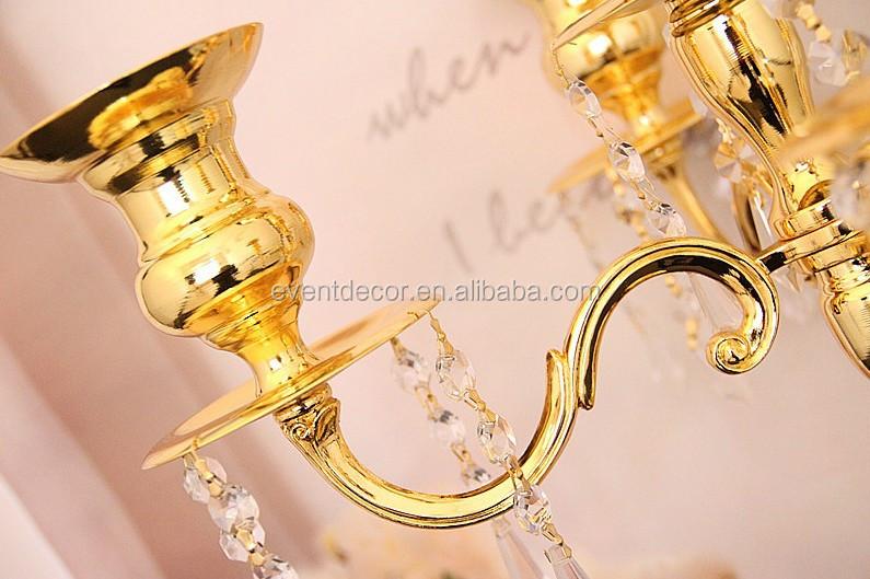 Tall candelabros de cristal wedding/centros de mesa candelabros de ...