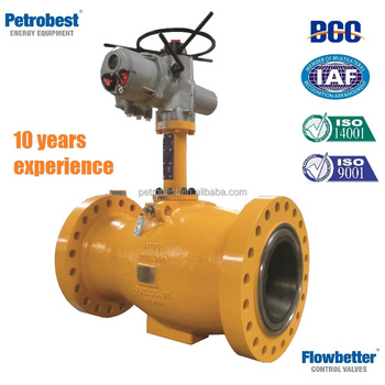Axial Flow Control Valve For Natural Gas Or Oil With Electric ...