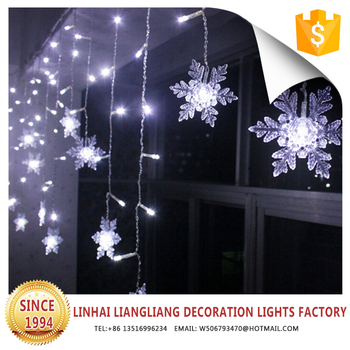 outdoor rechargeable factory price snowflake led christmas lights
