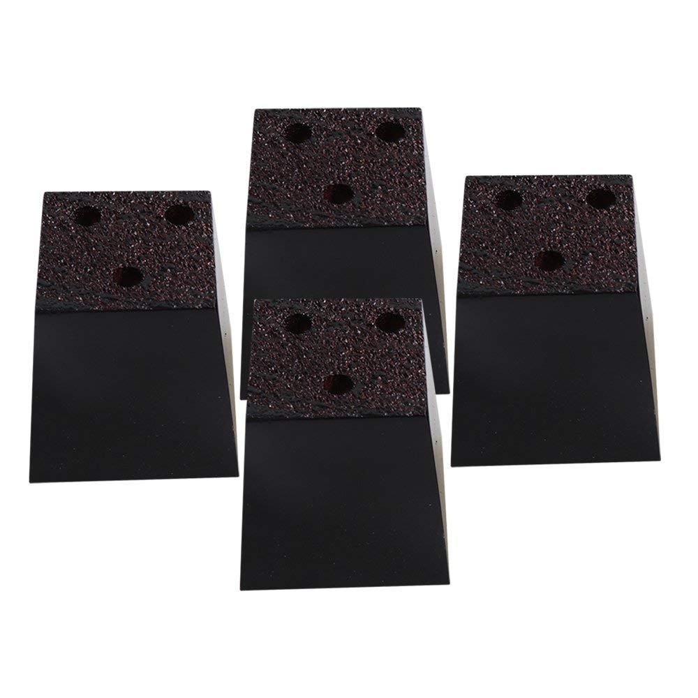 "Mxfans 4PCS Black Pine Trapezium Sofa Feet Chair Table Bed DIY 2.95x2.95x3.15"""