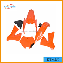 Hot Sale Fairing Orange KTM 250 Dirt Bike Plastic Cover