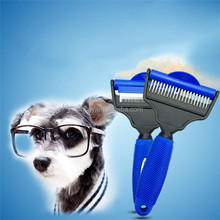 New Design Dog Pet Deshedding Tool Double Sided Dematting Comb & Grooming Brush for Dogs