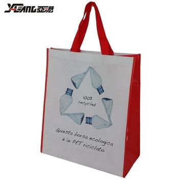 14f74b4c154e Оптовая продажа дешевые rpet сумка для покупок Пользовательские печатных  Экологичные Recycle многоразовые Non WovenTote хозяйственные сумки
