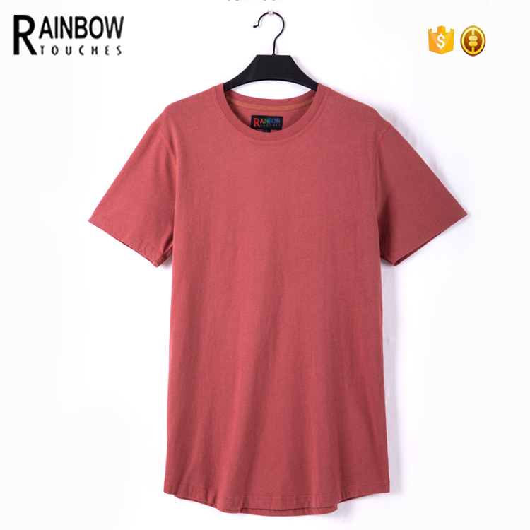 Low MOQ Custom Men Organic Cotton Blank T Shirt