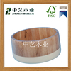 FSC&SA8000 approved unfinished pine wood wooden snack bucket for children
