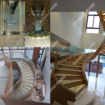 glass Spiral staircase indoor