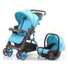 baby stroller carseat with one hand fold second lock