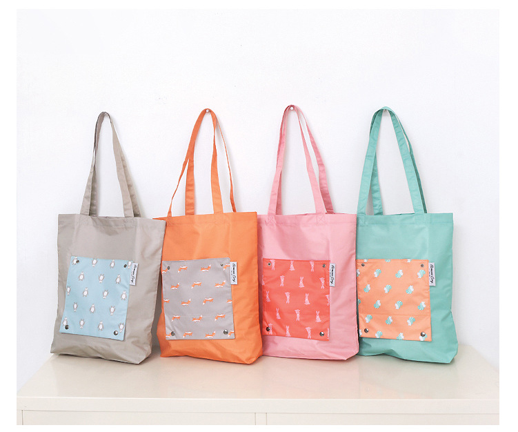 waterproof shopping bags foldable <strong>tote</strong> bag cartoon animal shopping bag