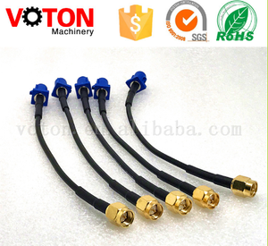 free samples low loss Fakra C to SMA male plug rf connector RG174 RG316 coaxial cable assembly
