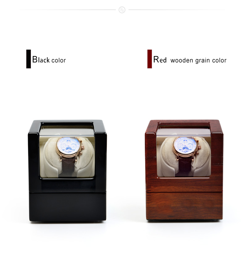 FANXI Custom Watch Shaker For Mechanical watches For home Use or Collection Brown And Black Color Luxury Wooden Watch Winder