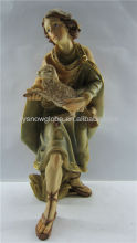 Antigo figurine do polyresin religiosa