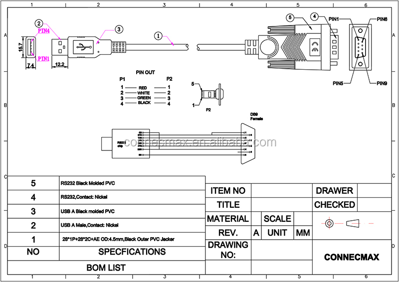 usb to db9m cable schematic usb to rca cable schematic