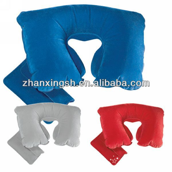 2014 shanghai zhanxing hot sale comfortable pvc inflatable wedge travel pillow bag in good price