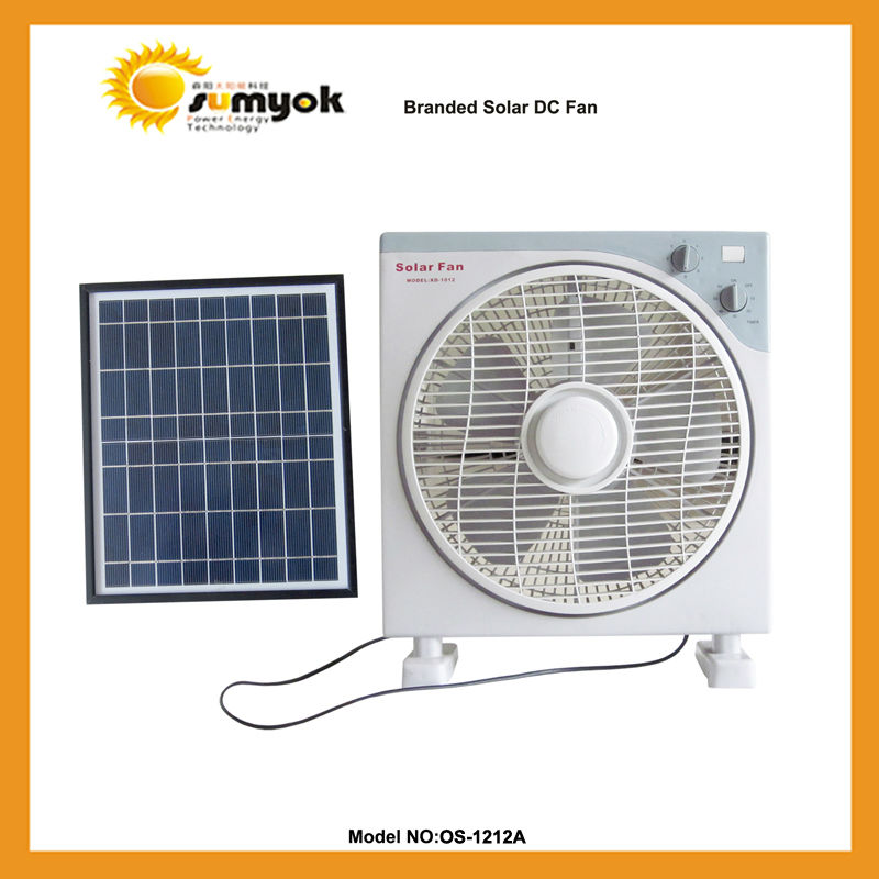 OS-1212A energy saver fans guangzhou factory solar cooling fan 13w