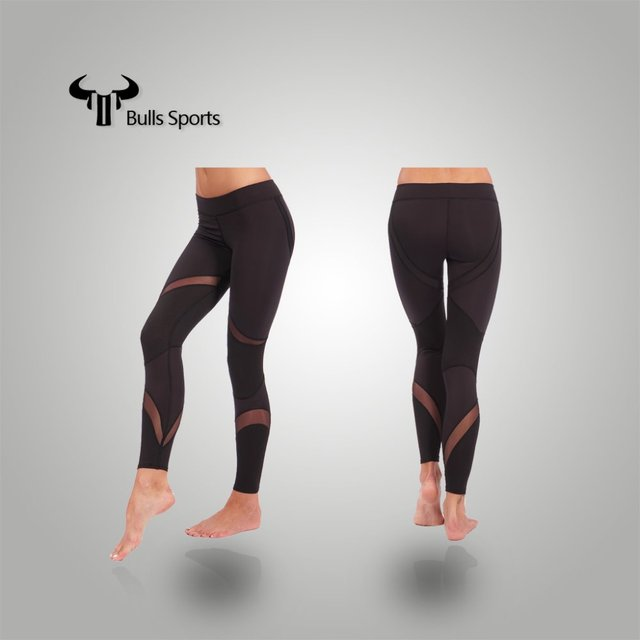Fashion women wearing sexy printed tight yoga pants