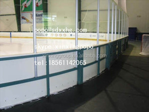 Portable indoor / outdoor polyethylene soccer wall / PE Hockey dasher board
