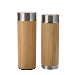 2019 top quality 500ml Free Bamboo Lid Borosilicate Glass water Bottle,custom creative drink bottle LED light
