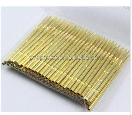R100-4W Metal 1.7mm Dia Testing Probe Pin Gold Plated