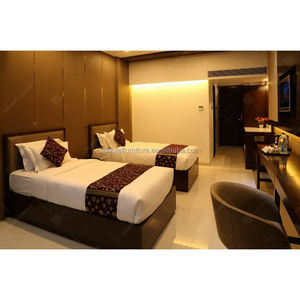 3 Star Commercial Furniture Modern Double Queen Bed Room Furniture Design Hotel Bedroom Set