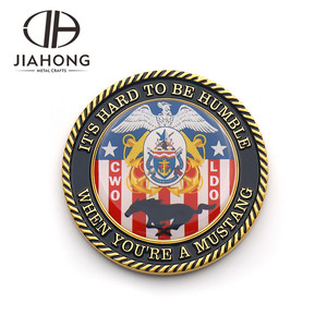 Custom 3D dragons commemorative challenge military coin with epoxy