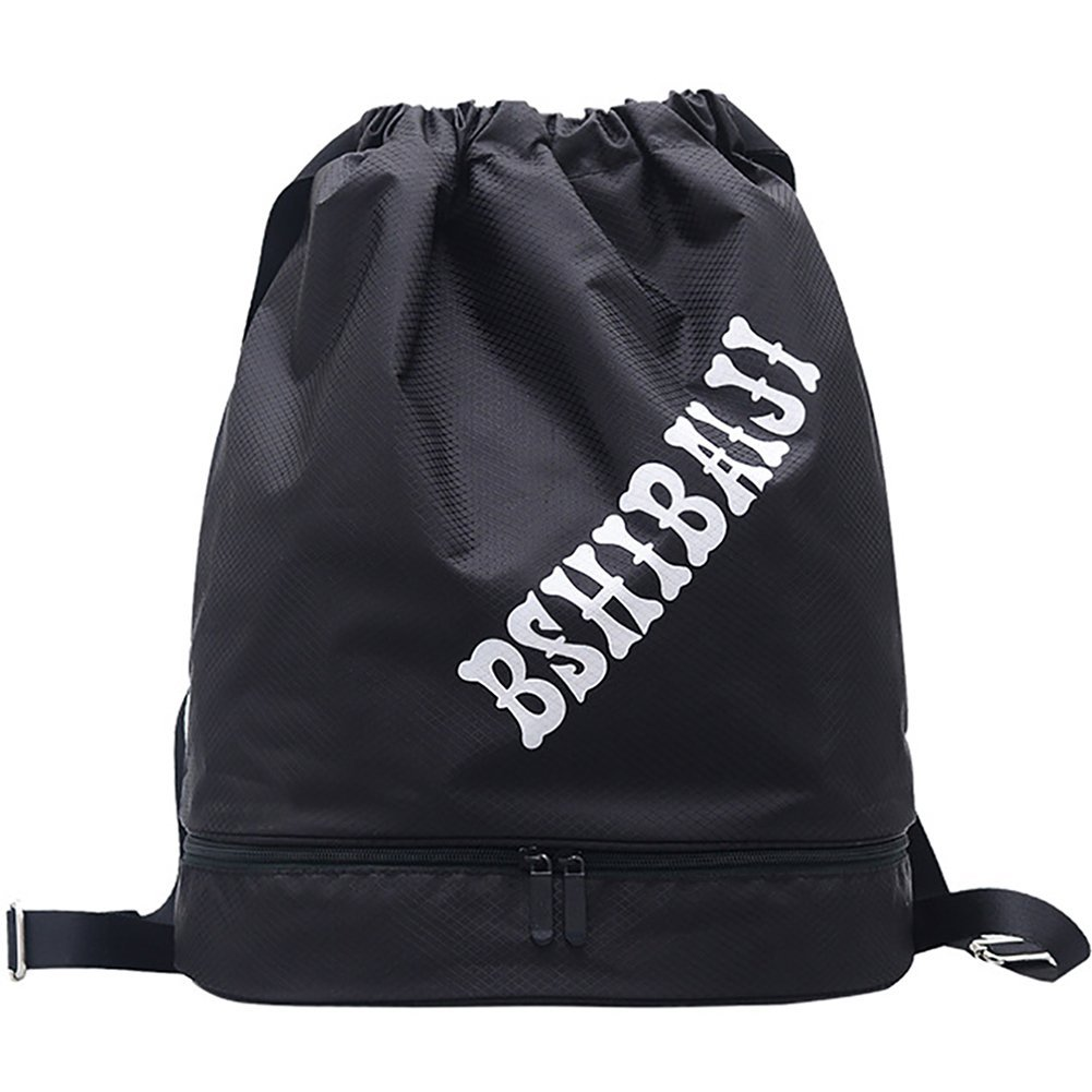 0d268960bb Get Quotations · Peicees Drawstring Backpack Dry Wet Separated Swimming Bag  Waterproof Sports Backpack Drawstring Gym Bag Beach Bag