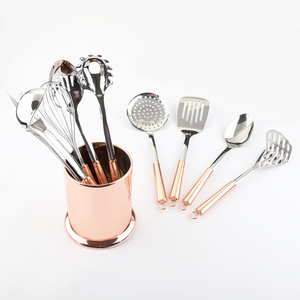 10pc Rose Gold Copper Stainless Steel Kitchen Utensil Gadget Tool Set
