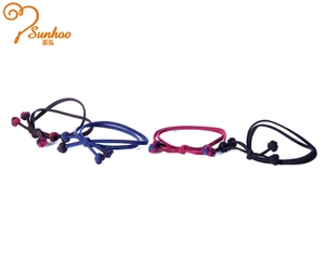 SUNHOO human hair scrunchie ,elastic bow hair tie