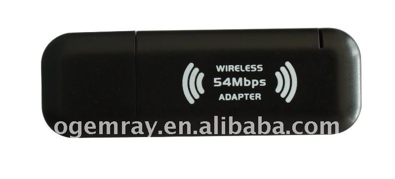 802.11 b/g 54Mbps wireless usb adapter