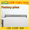 Super bright 240W LED light bar 41.5 inch led offroad light bar with long warranty