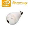 360 degree fisheye panoramic view HD 960P CCTV lamp light bulb smart remote P2P IP wifi wireless hidden camera with night vision