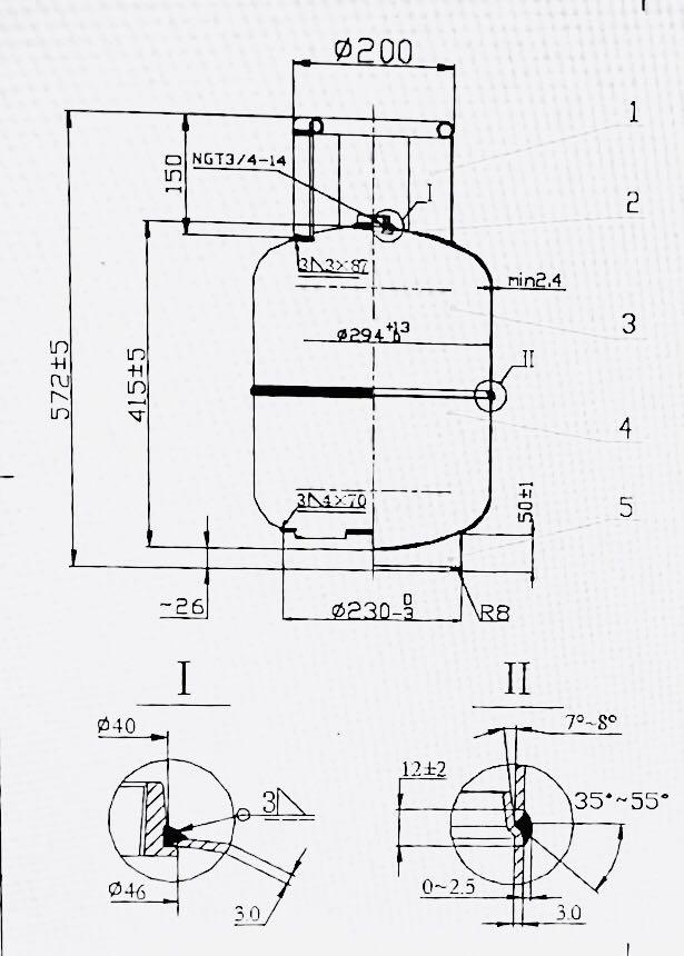 低圧 11 キロ lpg ガスシリンダーのためフィリピン市場