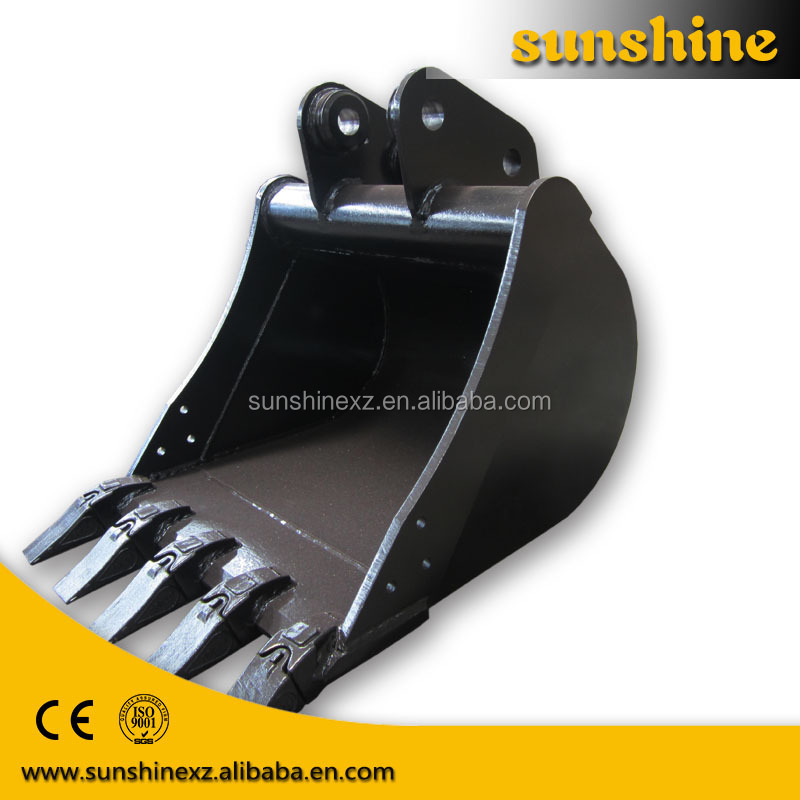 xuzhou factory small standard excavator bucket sizes digging rock/stone