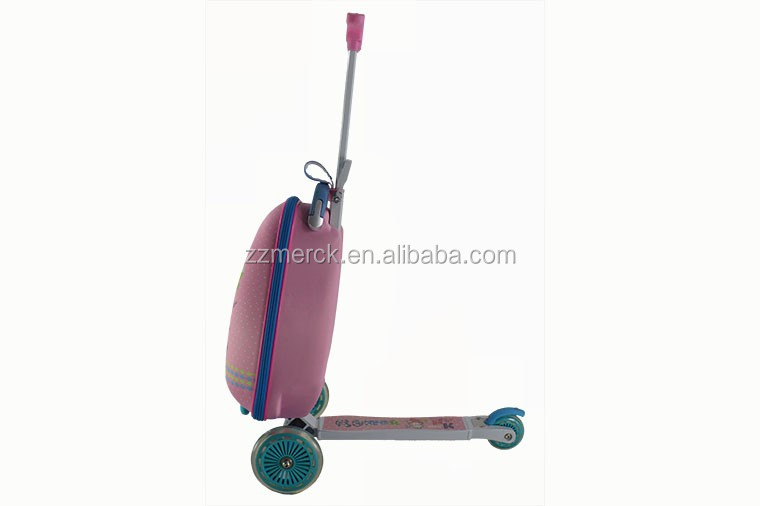 Kids 3 Wheel Pulling Suitcase Trolley Scooter Luggage For Sale ...