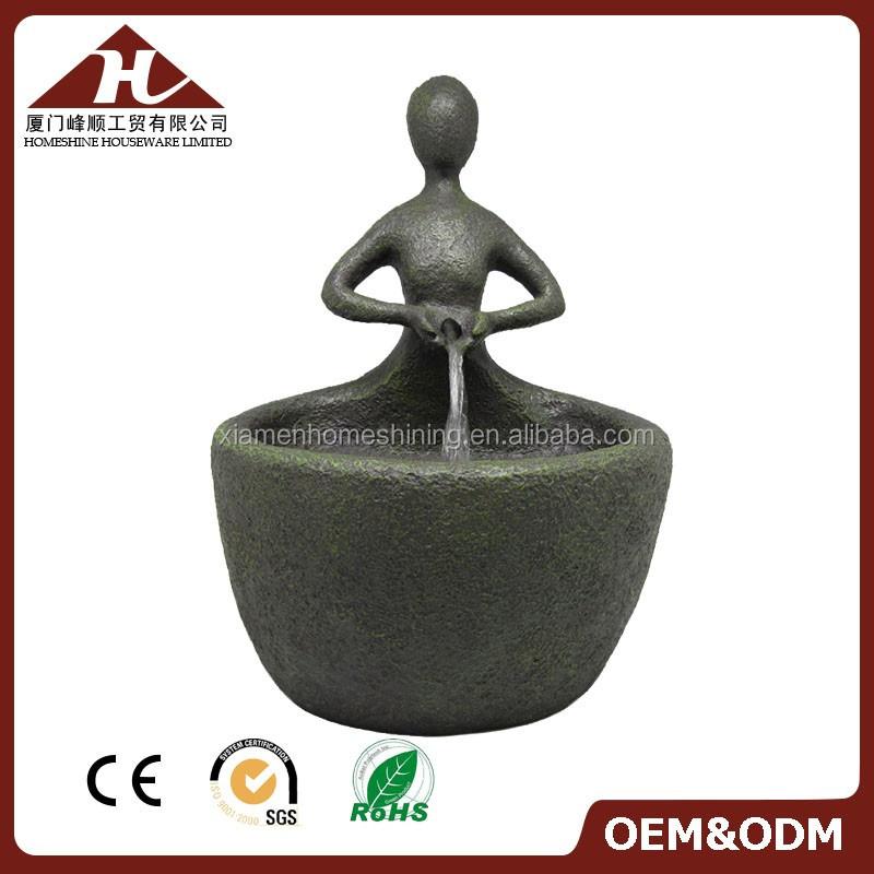 artesanías de resina fuentes de agua de jardín al aire libre