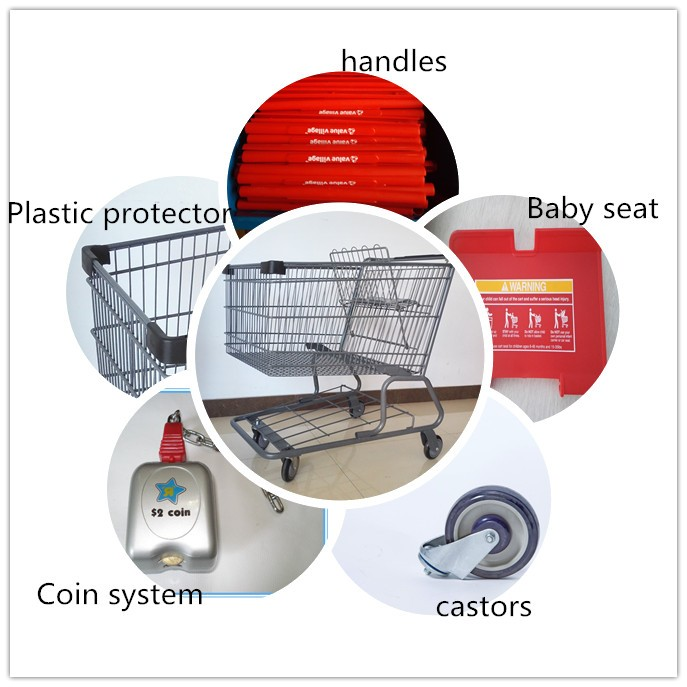 Customize carrefour shopping cart trolley for sale
