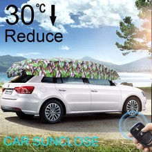 SUNCLOSE Factory uv vented umbrella car side window sunshade portable cooling system for car