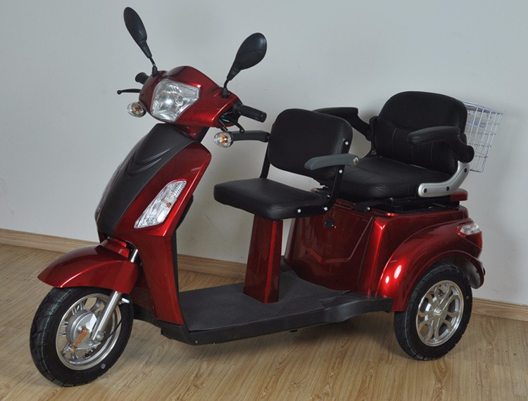 Hot selling handicapped electric 2 seat mobility scooter 3 for 3 wheel motor scooters for adults