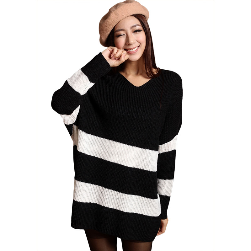 Cheap Black And White Striped Sweater Women Find Black And White