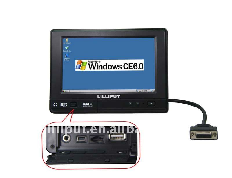 "Lilliput 7"" WinCE 6.0 Mobile Data Terminal with IP64, 3G, GPS, WiFi&Bluetooth"