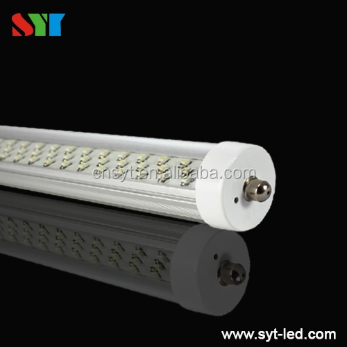 LED Tube lights/T8/T12 single pin/8 feet/clear lens/36 watts replaces 72w fluorescent lamp