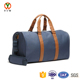 Durable canvas with leather strap chic lightweight sport travel bag