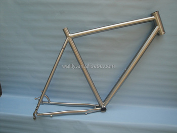 Cyclocross Titanium alloy bike frame with internal cable routing